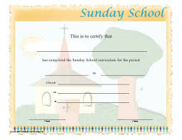 12 best sunday certificates images on pinterest award