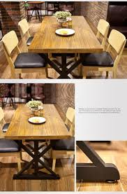 natural oak solid wood american country style kitchen table buy