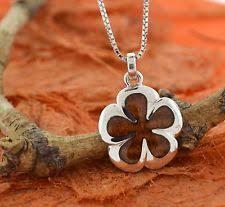 Koa Wood Plumeria Flower Sterling Silver Pendant Koa Wood Jewelry Ebay