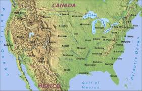 map of the us physical map of the us and canada features 46 for your with in