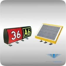 Solar Powered Runway Lights by The Solar Series Elevated Runway Guard Light Increases Safety At