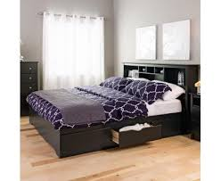 king mate u0027s platform storage bed with 6 drawers black prepac