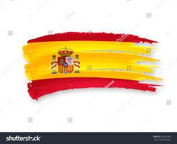 illustration isolated hand drawn spanish flag stock illustration