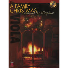 a family christmas around the fireplace viola with cd shar music
