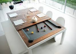 Pool Table In Living Room This Dining Table Hides A Pool Table Underneath