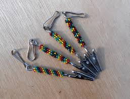 roach clip peyote stitch beaded roach clip rasta colors design choices