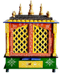 new star home decor multicolour wood hanging mandir buy new star new star home decor multicolour wood hanging mandir