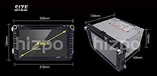 amazon com hizpo 8inch tv monitor hd touchscreen auto car dvd