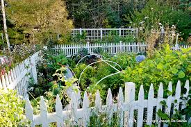 outstanding kitchen garden with white fence and picket josaelcom