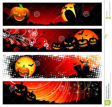 Halloween Banners by Four Vector Banner On A Halloween Theme Stock Images Image 10731954