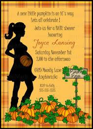 pumpkin thanksgiving baby shower invitations with orange font