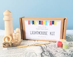 paint your own lighthouse kit paint kit paint craft kit