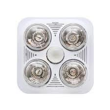 ceiling bathroom heater 4 light square english