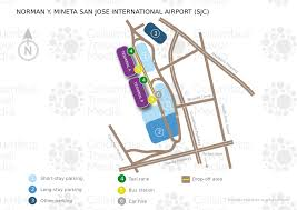 san jose airport on map norman y mineta san jose international airport world travel guide