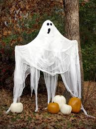 scary ghost halloween garden decor outside decorations halloween