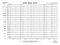 sing sing sing with a swing louis prima sing sing sing by louis prima arr vince gassi j w pepper