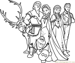 frozen family coloring free frozen coloring pages
