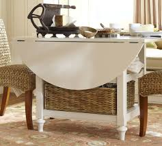 Shayne DropLeaf Kitchen Table White Pottery Barn - Drop leaf kitchen tables for small spaces