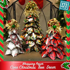 wrapping paper cone christmas tree decor fyi guy