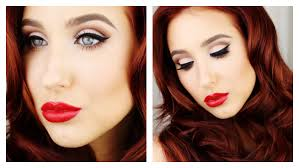 old hollywood glam makeup hair tutorial jaclyn hill