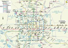 Beijing China Map by Metro Map Of Beijing Johomaps