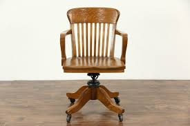 sold oak swivel adjule 1910 antique desk chair with arms office for chr371