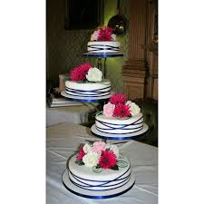 cake stands for wedding cakes ribbon cascade