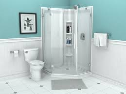 axis 42 neo angle shower door featuring easy to clean glass