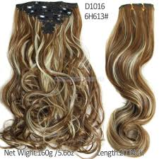 synthetic hair extensions 160g 7pcs set in hair extension curly hair pieces