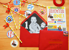 curious george themed 1st birthday party project nursery