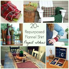 20 repurposed upcycled flannel shirt diy craft projects