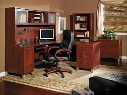 Wood Office Furniture by Wonderful Luxury Home Office Design Feat Black Wooden Office