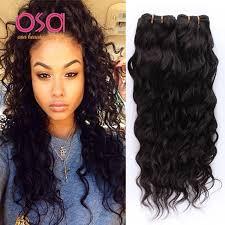wet and wavy human hair weave hairstyles osa raw indian virgin hair indian water wave hair 3 bundles ocean