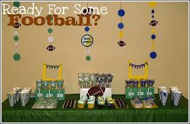 football party decorations football party