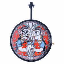 buy imithila designer handpainted decorative analog wall clock