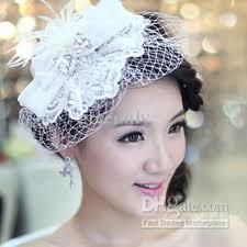 hair fascinators white feather flowers lace diamond hair fascinators for