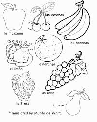 spanish fruit coloring pages coloring pages coloring pages