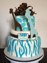 blue zebra and leopard print by ladyviola on cakecentral com