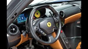 enzo steering wheel beautiful blue enzo sells for 2 4m at auction update