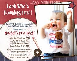 baseball 1st birthday invitations vertabox com