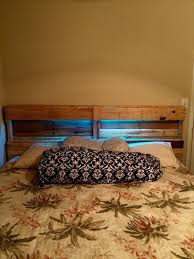 How To Make A Platform Bed Frame With Pallets by Diy Pallet Bed Frame And Headboard 101 Pallets