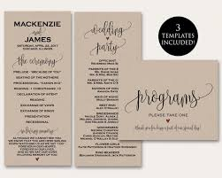 wedding ceremony program templates ceremony programs ceremony program template wedding programs