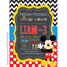 free printable mickey mouse invitation templates amazing