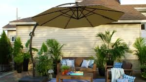 exterior lighted outdoor umbrella outdoor table umbrella black