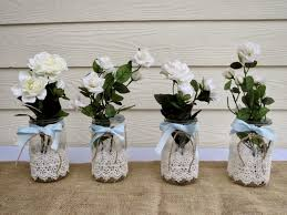 Homemade Table Centerpieces by Flowers For Wedding Table Centerpieces Diy Mason Jar Wedding