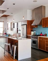 furniture contemporary kitchen design with kerf cabinets plus contemporary kitchen design with kerf cabinets plus stool and blue backsplash