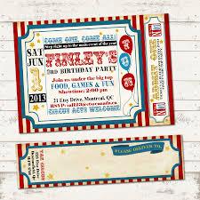 valerie pullam designs circus birthday invitation with wrap