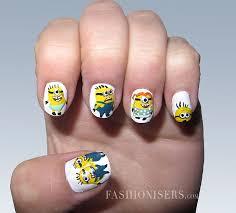 easy nail art characters 20 cute cartoon inspired nail art designs fashionisers