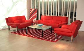 red black leather sofa set modern and reclining sets 17839