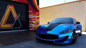 maserati gt sport black maserati gran turismo sport avery blue chrome w carbon fiber